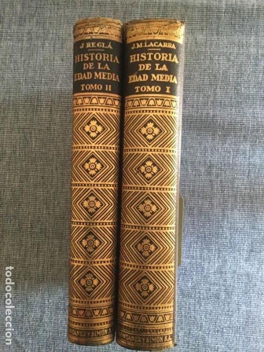 HISTORIA DE LA EDAD MEDIA. 2 TOMOS. JOSÉ Mª LACARRA Y DE MIGUEL-JUAN REGLÀ CAMPISTOL. (Libros de Segunda Mano - Historia - Otros)
