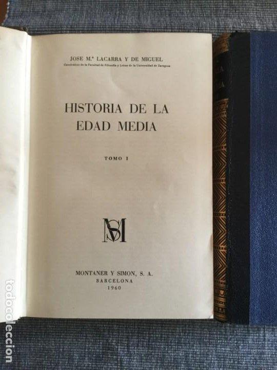 Libros de segunda mano: Historia de la Edad Media. 2 Tomos. José Mª Lacarra y de Miguel-Juan Reglà Campistol. - Foto 3 - 184285167