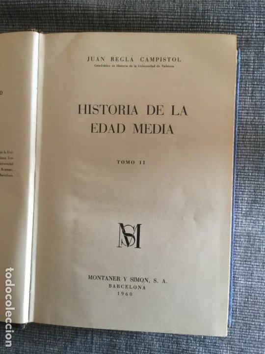 Libros de segunda mano: Historia de la Edad Media. 2 Tomos. José Mª Lacarra y de Miguel-Juan Reglà Campistol. - Foto 6 - 184285167