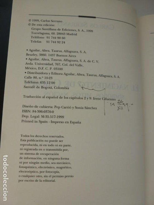 Libros de segunda mano: EL NACIMIENTO DE CARMEN. SÍMBOLOS, MITOS Y NACIÓN. CARLOS SERRANO. TAURUS, PRIMERA EDICIÓN - Foto 3 - 184329190