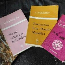 Libros de segunda mano: LOTE 4 LIBROS GURDJIEFF . Lote 184340970