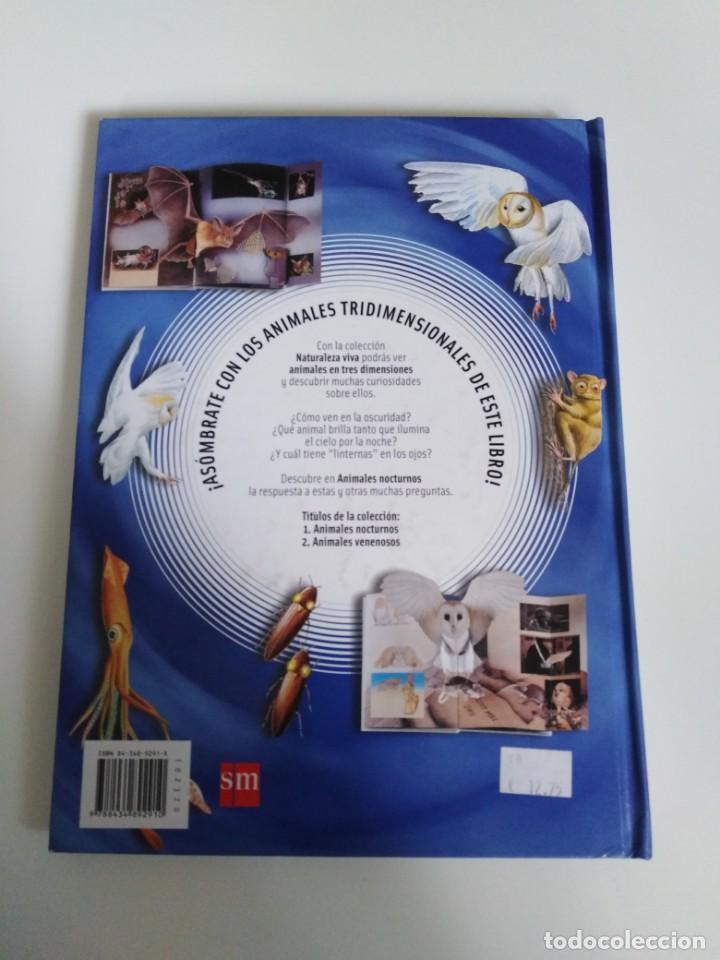 Libros de segunda mano: Animales nocturnos. Naturaleza viva. libro Pops-Up. David Taylor. ed. SM - Foto 2 - 184351813