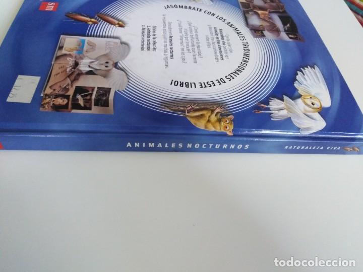 Libros de segunda mano: Animales nocturnos. Naturaleza viva. libro Pops-Up. David Taylor. ed. SM - Foto 3 - 184351813