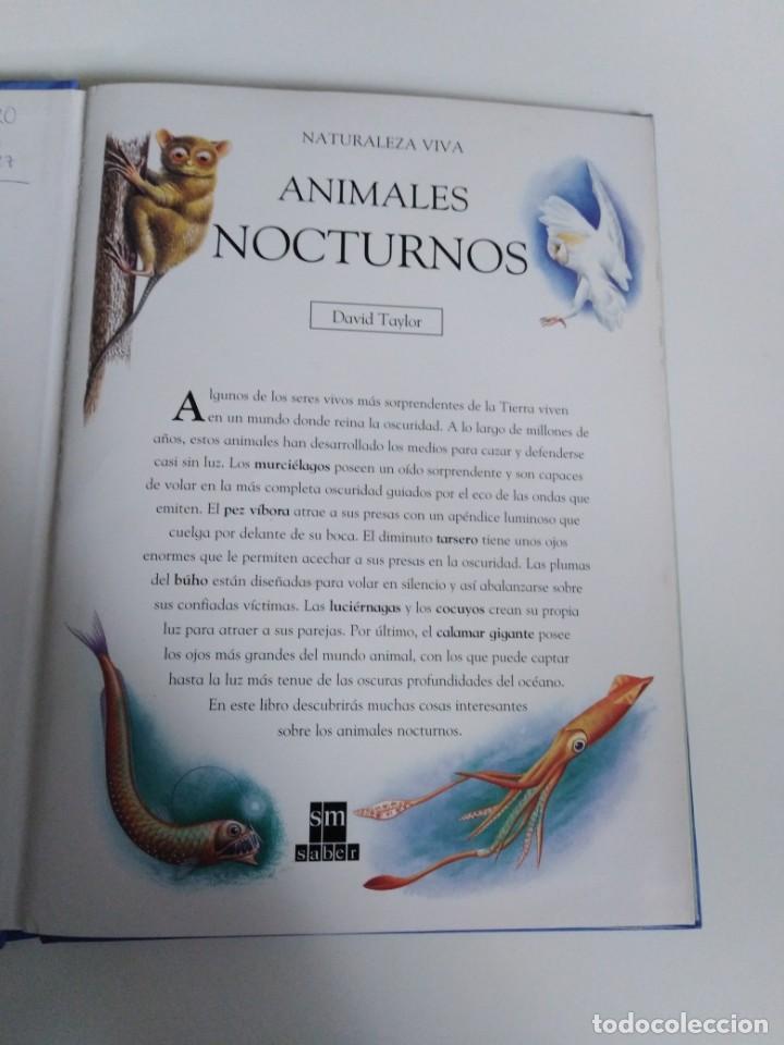 Libros de segunda mano: Animales nocturnos. Naturaleza viva. libro Pops-Up. David Taylor. ed. SM - Foto 4 - 184351813