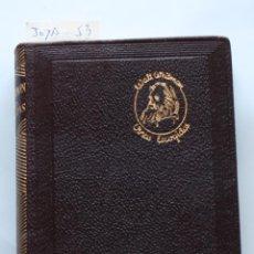 Libros de segunda mano: EDITORIAL AGUILAR - COLECCION JOYA - Nº 053 - OBRAS ESCOGIDAS - WALT WHITMAN. Lote 184354306