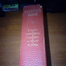 Libros de segunda mano: MAESTRO RUSOS III. EDITORIAL PLANETA. EST6B1. Lote 184380185