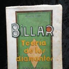 Libros de segunda mano: BILLAR - TEORIA DE LOS DIAMANTES - REVELACIÓN DE SU MATEMÁTICA PRÁCTICA - ANTONINO CILIONE - 1958. Lote 184605421