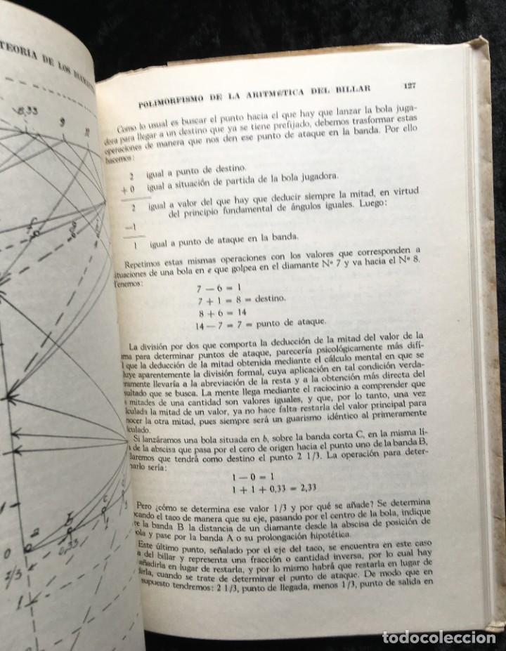 Libros de segunda mano: BILLAR - TEORIA DE LOS DIAMANTES - Revelación de su Matemática Práctica - ANTONINO CILIONE - 1958 - Foto 7 - 184605421
