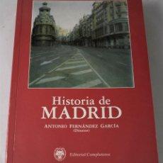 Libros de segunda mano: HISTORIA DE MADRID. VARIOS AUTORES. DIRIGIDO POR FERNÁNDEZ GARCÍA, ANTONIO. Lote 184704752