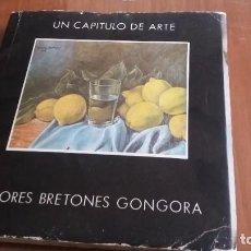 Libros de segunda mano: LIBRO UN CAPITULO DE ARTE DOLORES BRETONES GONGORA PINTORA ARTISTA. Lote 184771058