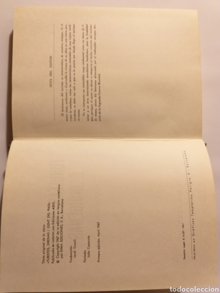 Libros de segunda mano: Turistas sirenas e indígenas Manuel costa-pau .1967 . .. pensamiento ensayo - Foto 13 - 184804766