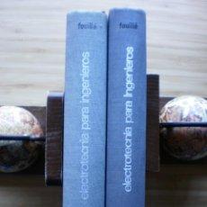 Libros de segunda mano: ELECTROTECNIA PARA INGENIEROS. 2 TOMOS. TOMO I; ELECTRICIDAD FUNDAMENTAL. TOMO II; MAQUINAS ELECTRIC. Lote 184832360