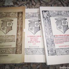 Libros de segunda mano: PRIMERA EDICIÓ VALENCIANA DE L'OBRA D'AUSIAS MARCH, FACSIMIL. 2 TOMOS. Lote 184868752