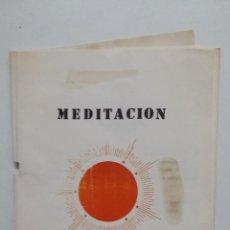 Libros de segunda mano: MEDITACION SOLAR. ASOCIACION ADONAI. TDK432. Lote 185689411