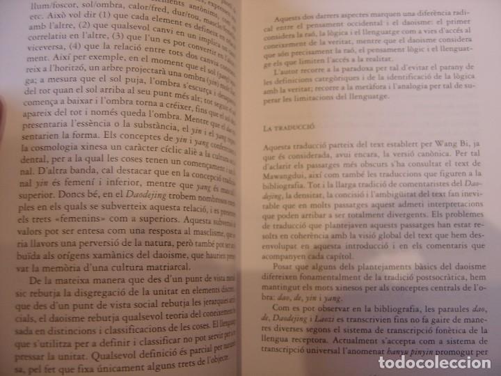 Libros de segunda mano: DAODEJING. EL LLIBRE DEL -DAO- I DEL -DE- LAOZI. 2006 - Foto 5 - 184582841