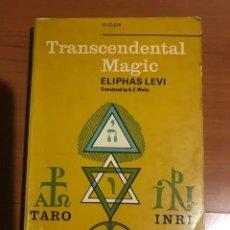 Libros de segunda mano: TRASCENDENTAL MAGIC ELIPHAS LEVI. Lote 185722181