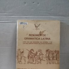 Livres d'occasion: 28832 - RESUMEN DE GRAMATICA LATINA - APENDICE AL DICCIONARIO ILUSTRADO LATINO-ESPAÑOL- ESPAÑOL-LAT. Lote 185889297