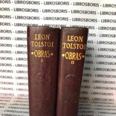 Libros de segunda mano: LEON TOLSTOI - OBRAS - AGUILAR - OBRAS ETERNAS . Lote 185923427