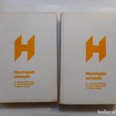 Libros de segunda mano: P. JIMÉNEZ MONTOYA, A. GARCÍA MESEGUER, F. MORÁN CABRÉ HORMIGÓN ARMADO (2 TOMOS) Y97394. Lote 185969366