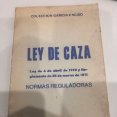 Libros de segunda mano: LEY DE CAZA. Lote 186077500