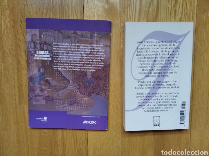 Libros de segunda mano: LOTE LIBRO LA INQUISION Y Brujas. Sacerdotisas de las tinieblas - Foto 2 - 186078942