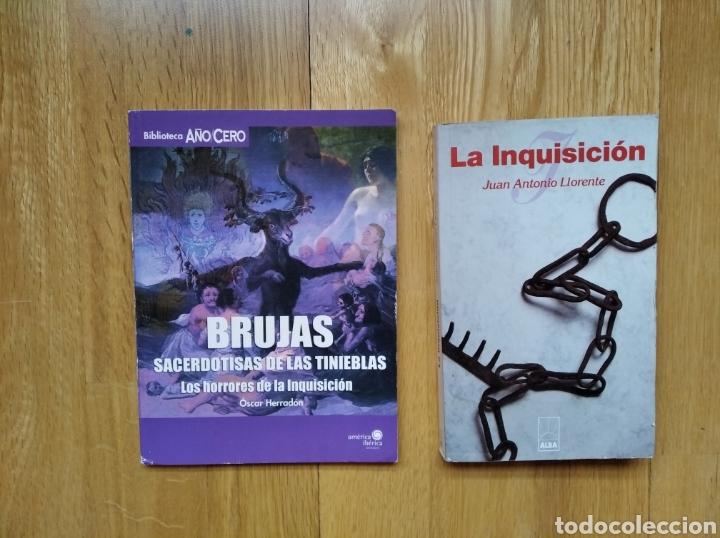 LOTE LIBRO LA INQUISION Y BRUJAS. SACERDOTISAS DE LAS TINIEBLAS (Libros de Segunda Mano - Parapsicología y Esoterismo - Otros)