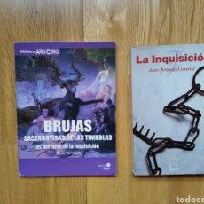 Libros de segunda mano: LOTE LIBRO LA INQUISION Y BRUJAS. SACERDOTISAS DE LAS TINIEBLAS. Lote 186078942