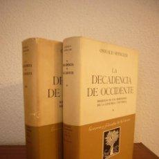 Libros de segunda mano: OSWALD SPENGLER: LA DECADENCIA DE OCCIDENTE I Y II. OBRA COMPLETA (ESPASA-CALPE). Lote 186240422