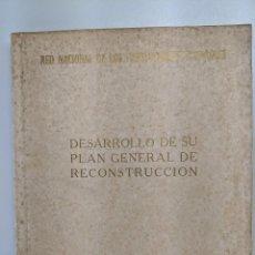 Libros de segunda mano: RENFE 1951 RIBADENEYRA DESARROLLO DE SU PLAN GENERAL DE RECONSTRUCCION FERROCARRILES. Lote 186329282