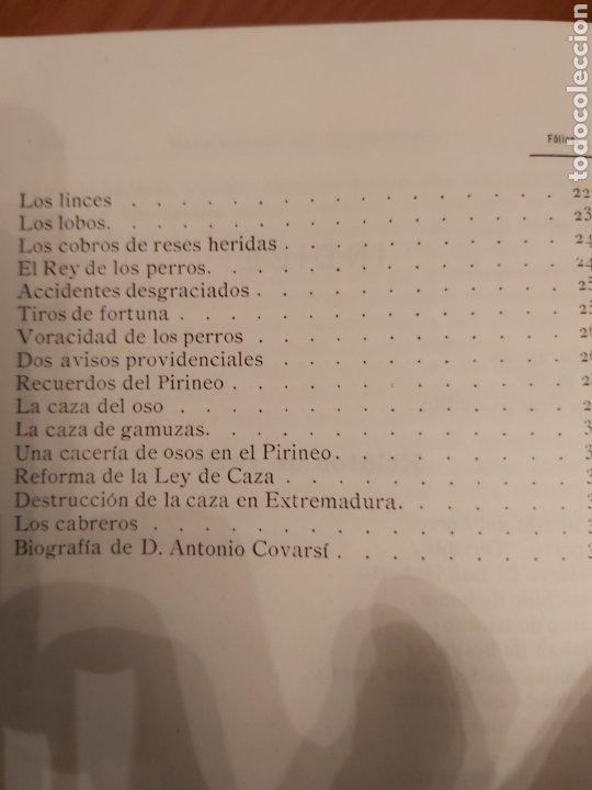 Libros de segunda mano: NARRACIONES DE UN MONTERO. ANTONIO COVARSI 1985. EDICIÓN FACSIMIL - Foto 6 - 186449088