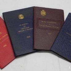 Libros de segunda mano: REAL ACADEMIA DE CIENCIAS MORALES Y POLITICAS, AÑOS 1926, 1931, 1932 Y 1936, REPUBLICA. MIDEN 15,5 X. Lote 186652550