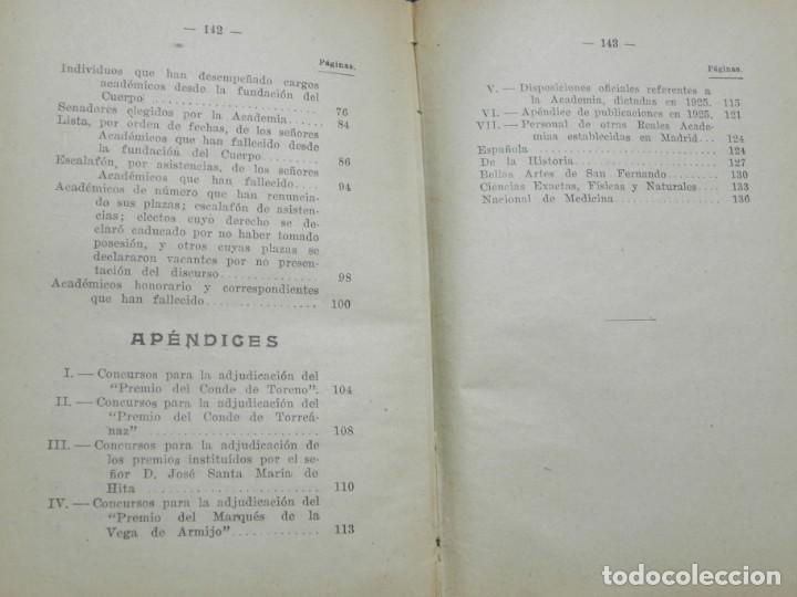 Libros de segunda mano: REAL ACADEMIA DE CIENCIAS MORALES Y POLITICAS, AÑOS 1926, 1931, 1932 Y 1936, REPUBLICA. MIDEN 15,5 X - Foto 8 - 186652550