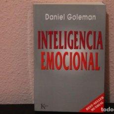 Libros de segunda mano: INTELIGENCIA EMOCIONAL POR DANIEL GOLEMAN. Lote 187226588