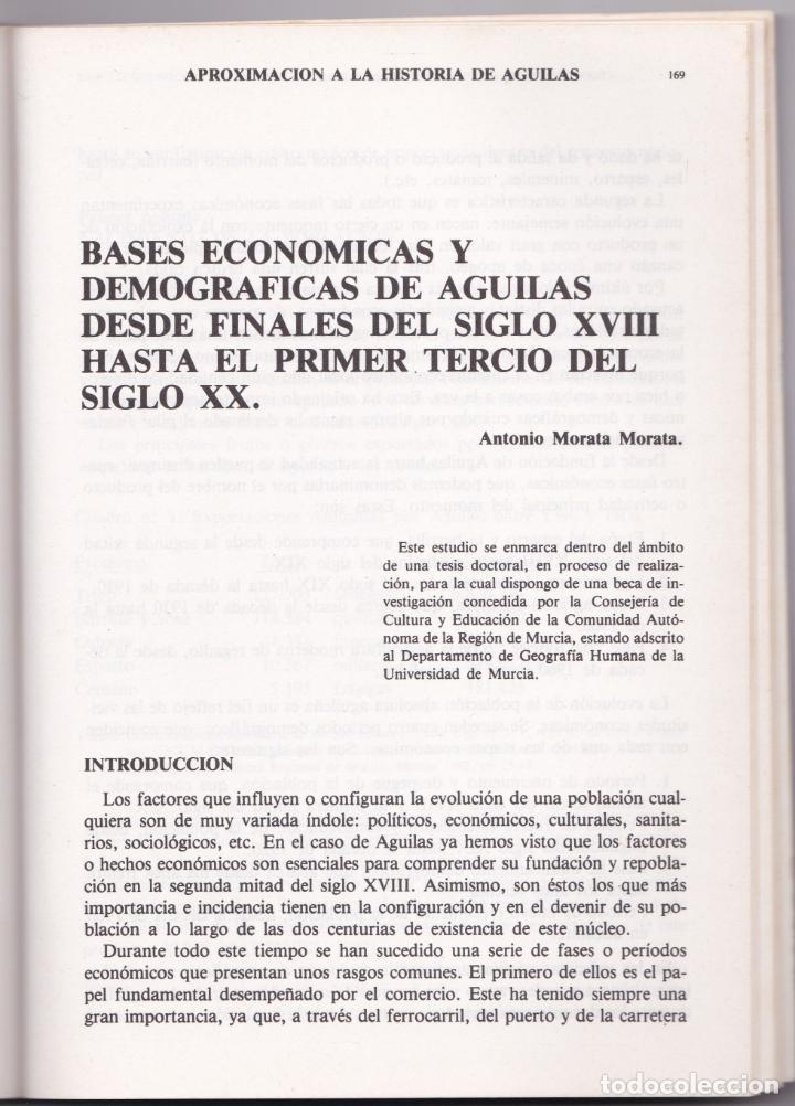 Libros de segunda mano: APROXIMACIÓN A LA HISTORIA DE ÀGUILAS - MURCIA - 1986 - Foto 4 - 187329600
