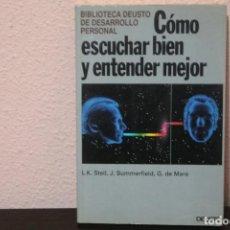 Libros de segunda mano: COMO ESCUCHAR BIEN Y ENTENDER MEJOR. Lote 187399752