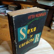 Libros de segunda mano: SEXO Y CARACTER. OTTO WEININGER. Lote 187427658