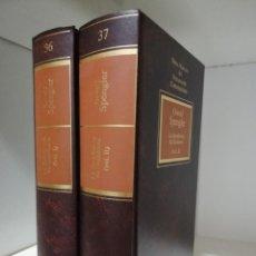Libros de segunda mano: LA DECADENCIA DE OCCIDENTE - OSWALD SPENGLER (2 TOMOS). Lote 187438448