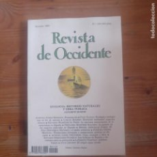 Libros de segunda mano: REVISTA DE OCCIDENTE. ECOLOGIA, RECURSOS NATURALES Y OBRA PUBLICA. Nº º49 1993. Lote 187497360