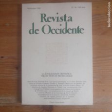 Libros de segunda mano: REVISTA DE OCCIDENTE. LA CIVILIZACIÓN CIENTÍFICA. NUEVAS TECNOLOGÍAS. Nº 64 1986. Lote 187531605