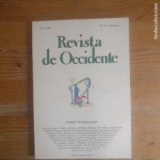 Libros de segunda mano: REVISTA DE OCCIDENTE. CAMBIO TECNOLOGICO. Nº 71 1987. Lote 187531686