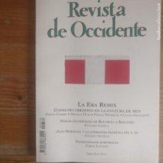 Libros de segunda mano: REVISTA DE OCCIDENTE. LA ERA REMIX. Nº 370 2012. Lote 187531793