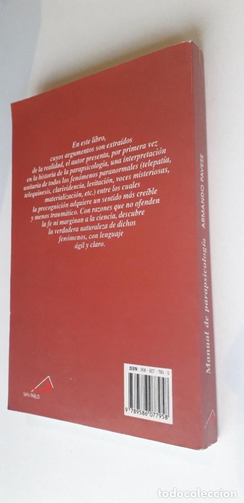 Libros de segunda mano: MANUAL DE PARAPSICOLOGIA - ARMANDO PAVESE - Foto 3 - 188440830