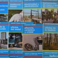 Libros de segunda mano: LOTE 8 CARTILLAS DE ORIENTACIÓN PROFESIONAL VARIADA AÑO 1965 - EDITORIAL VICENS-VIVES. Lote 188476608