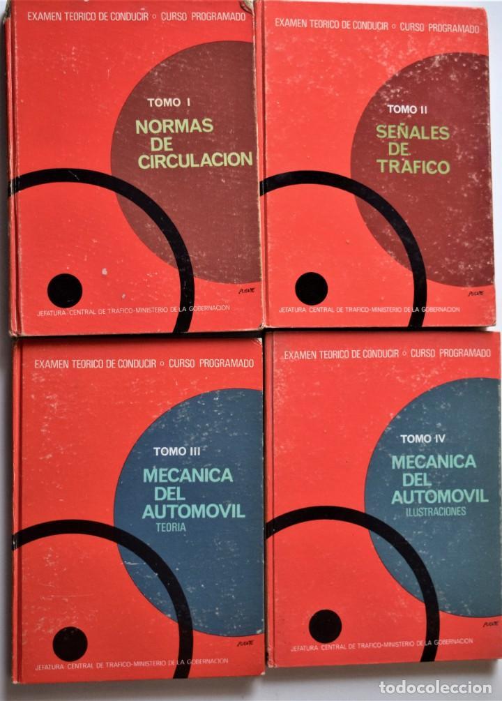 LOTE 4 TOMOS EXAMEN TEÓRICO DE CONDUCIR, CURSO PROGRAMADO - MECÁNICA, NORMAS Y SEÑALES 1969 (Libros de Segunda Mano - Ciencias, Manuales y Oficios - Otros)