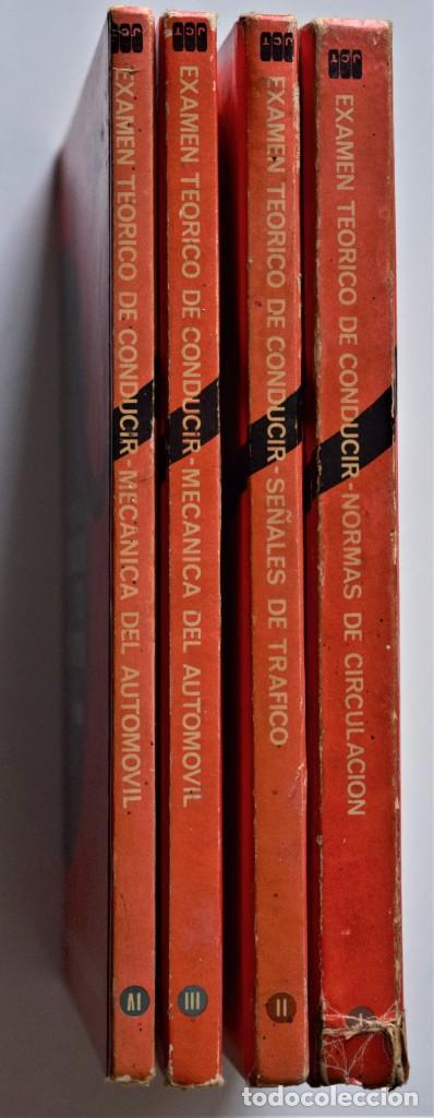 Libros de segunda mano: LOTE 4 TOMOS EXAMEN TEÓRICO DE CONDUCIR, CURSO PROGRAMADO - MECÁNICA, NORMAS Y SEÑALES 1969 - Foto 2 - 188478655