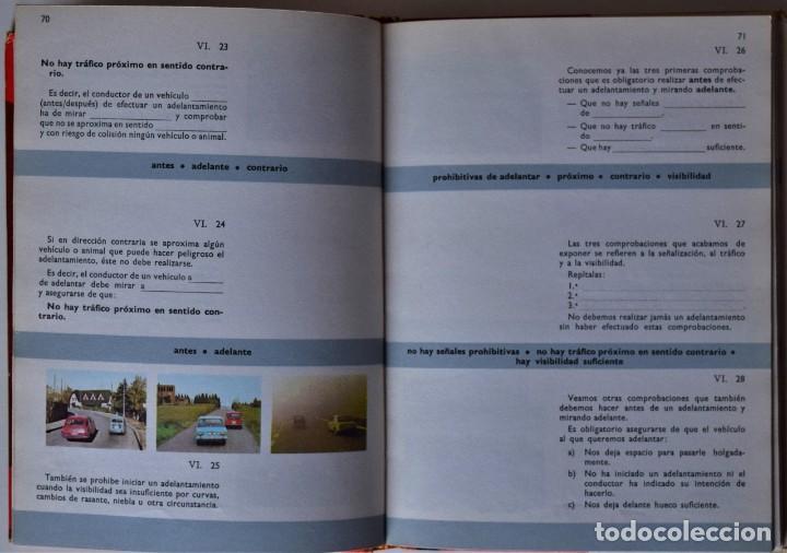 Libros de segunda mano: LOTE 4 TOMOS EXAMEN TEÓRICO DE CONDUCIR, CURSO PROGRAMADO - MECÁNICA, NORMAS Y SEÑALES 1969 - Foto 4 - 188478655