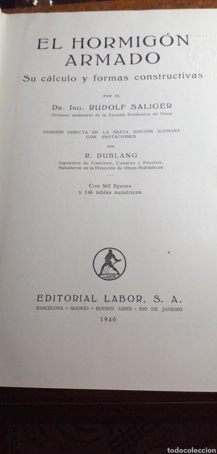 Libros de segunda mano: ANTIGUO LIBRO DE 1940 EL HORMIGÓN ARMADO POR RUDOLF SALIGER - Foto 2 - 188494383