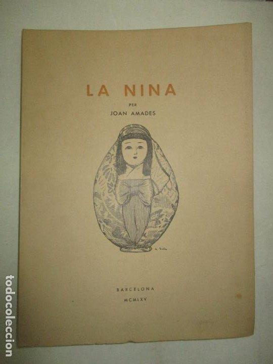 LA NINA. - AMADES, JOAN. 1965. (Libros de Segunda Mano - Bellas artes, ocio y coleccionismo - Otros)