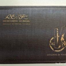 Libros de segunda mano: RENFE DEPARTAMENTO COMERCIAL FINALES AÑOS 40 - SERVICIO DE TRAFICO Y VIAJEROS - OFICINAS DE VIAJE. Lote 188500262