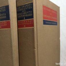 Libros de segunda mano: LAS GRANDES CORRIENTES DEL PENSAMIENTO CONTEMPORANEO. PANORAMAS NACIONALES. 2 TOMOS. Lote 188617067